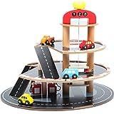 point-kids Spielset Parkhaus aus Holz, inkl. 4 Fahrzeuge