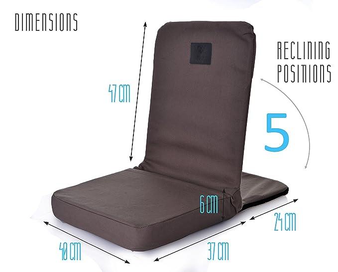 Omlove Plegable y reclinable Silla Yoga Meditación Piso ...