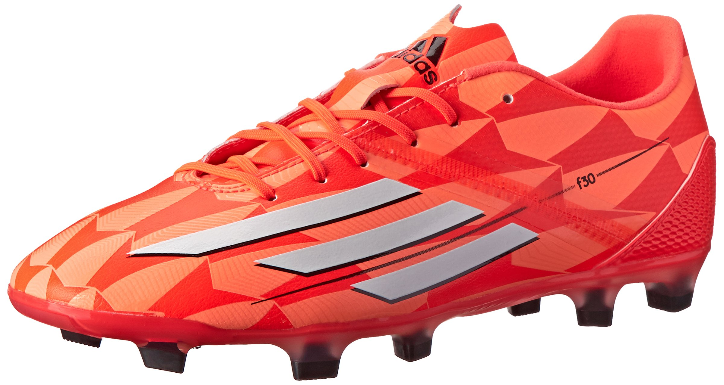 adidas Performance Women's F30 Firm-Ground W Soccer Cleat, Solar Red/Running White/Black, 8 M US