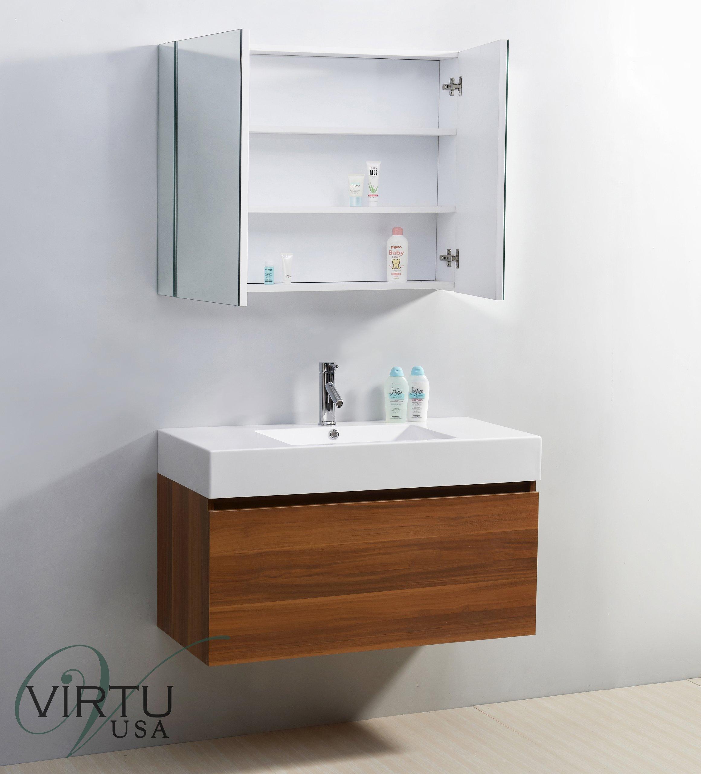 Virtu USA JS-50339-PL 39-Inch Zuri Single Sink Bathroom Vanity, Plum
