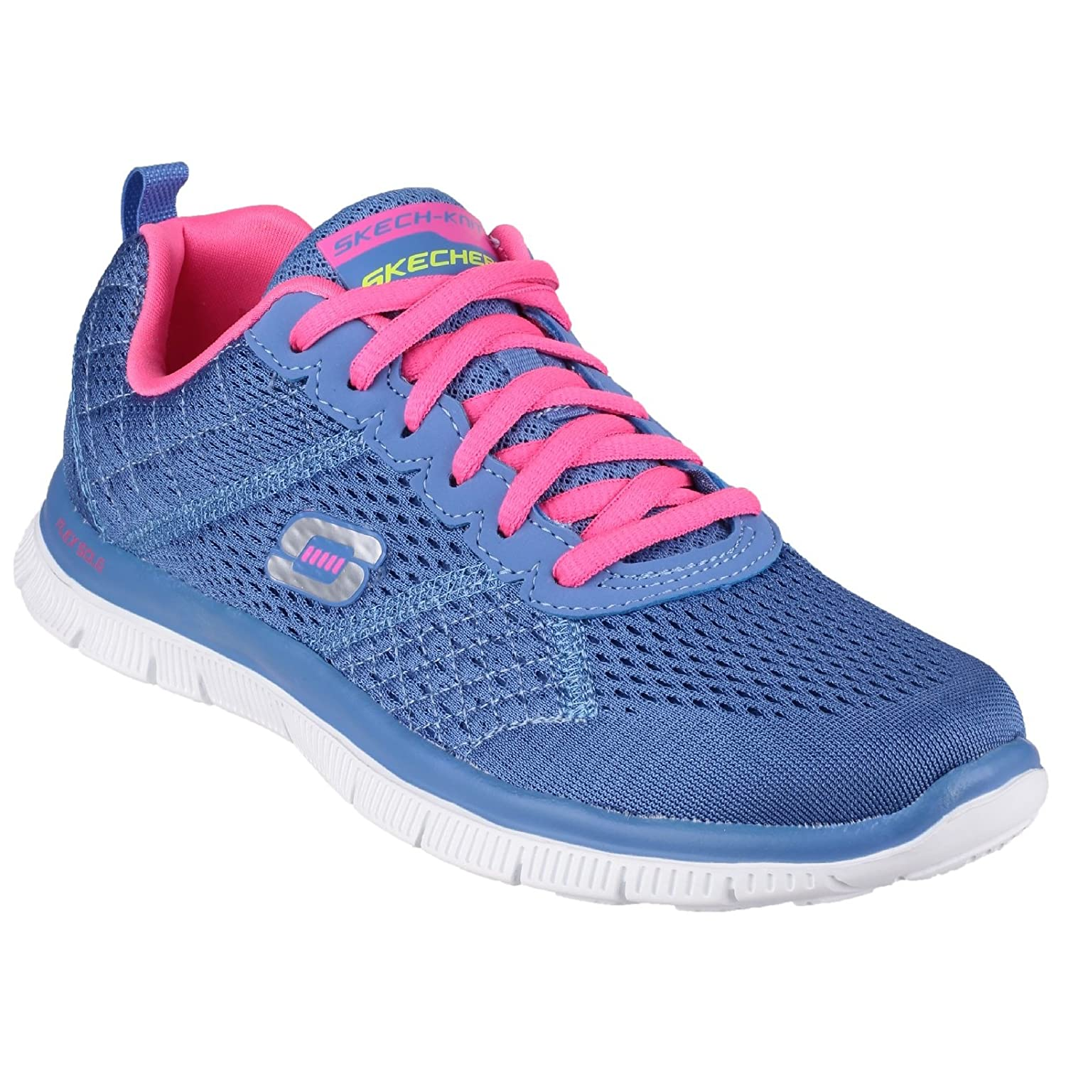 Skechers Flex Appeal - Obvious Choice, Zapatos para Mujer 36 EU|Morado/Rosa