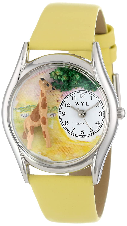 Whimsical Watches Women s S0150004 Giraffe Yellow Leather Watch
