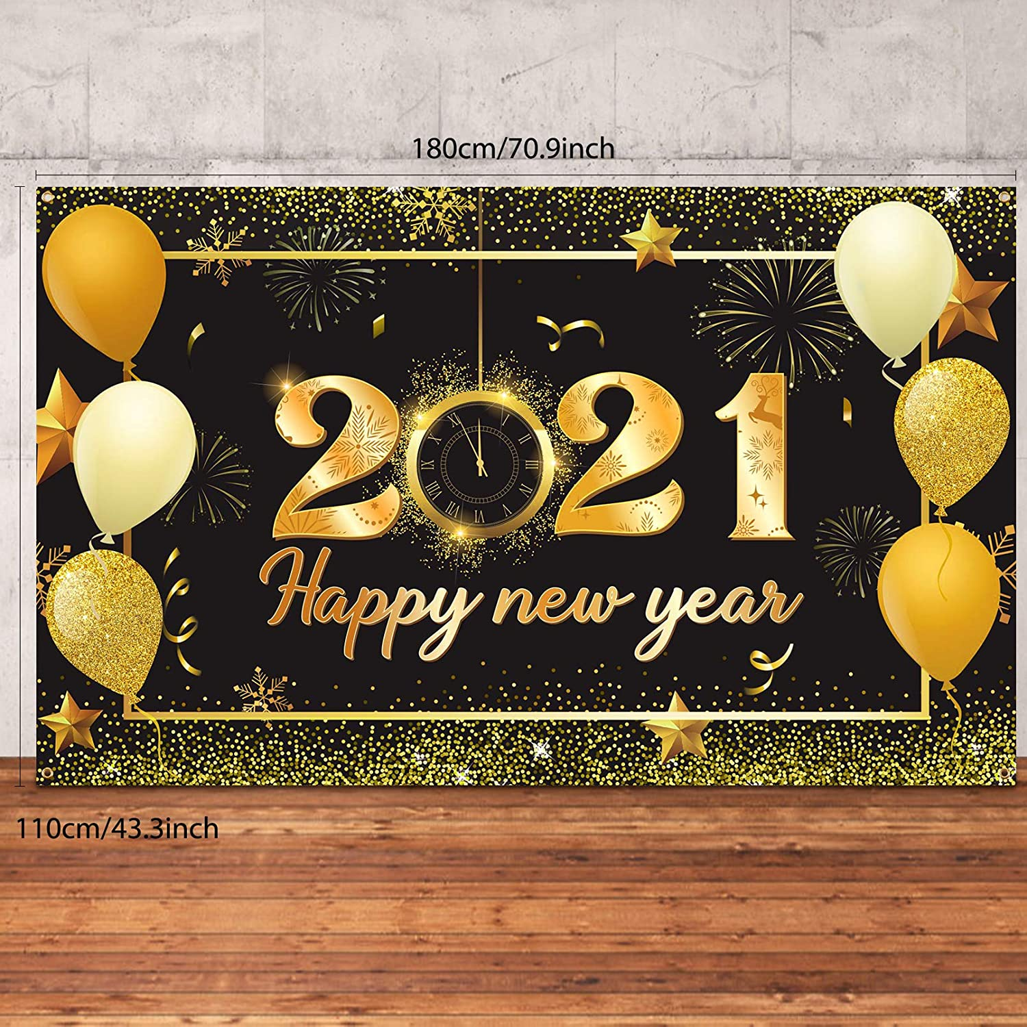 Christmas Fabric 2021 Release Amazon Com Duaiai Happy 2021 New Years Eve Party Decorations Large Fabric Black And Gold Sign 2021 Happy New Year Backdrop Banner Photo Booth Background With Rope For Winter Christmas Happy New Year Party