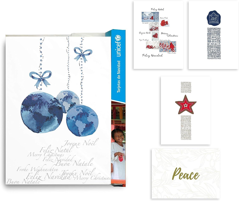 Unicef Tarjetas de Navidad Colección Arte 10: Amazon.es: Oficina y ...