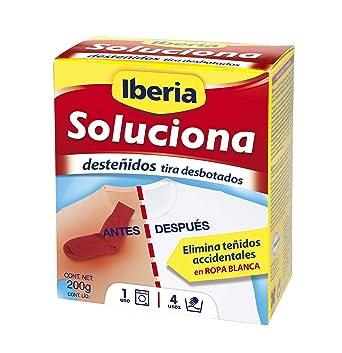Iberia - Quitamancha - Soluciona para eliminar desteñidos accidentales en ropa blanca - 240 g