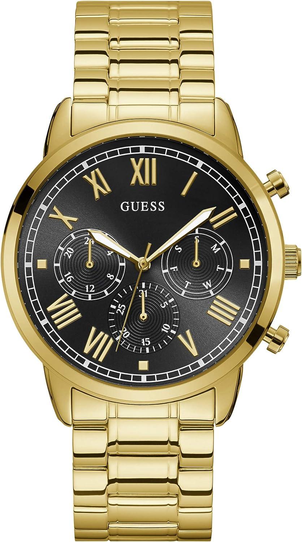 RelojGuess Hendrix W1309G2 para Hombre, Dorado y Negro, Caja de 44 mm