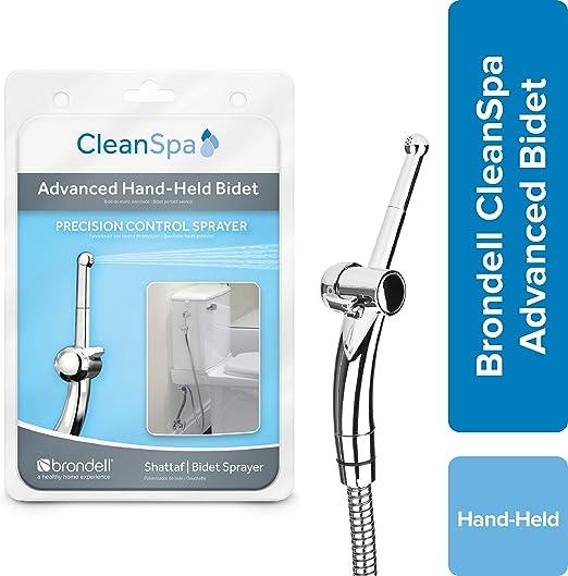 Amazon Com Brondell Hand Held Bidet Sprayer For Toilet Cleanspa Advanced Bidet Attachment With Precision Pressure Control Jet Spray Ergonomic Handheld Bidet For Toilet Toilet Water Sprayer And Hose Set Home