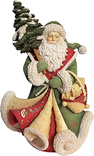 Enesco Heart of Christmas Bringing Home Christmas Masterpiece Santa Figurine, 16.5 , Multicolor