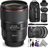 Canon EF 35mm f/1.4L II USM Lens w/ Advanced Photo and Travel Bundle - Includes: Altura Photo Sling Backpack, Monopod, UV-CPL-ND4, Camera Cleaning Set