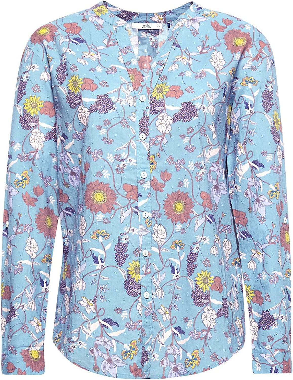 Edc by Esprit Blusa Mujer Estampada Azul XXL: Amazon.es: Ropa y accesorios
