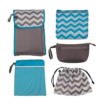 5dcf80c2aab Amazon.com   J.L. Childress Diaper Bag Organizer 5 Piece Set, Grey ...