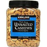 Kirkland Signature Unsalted Cashews, 2.5 Lb, 2 Pack, 1count