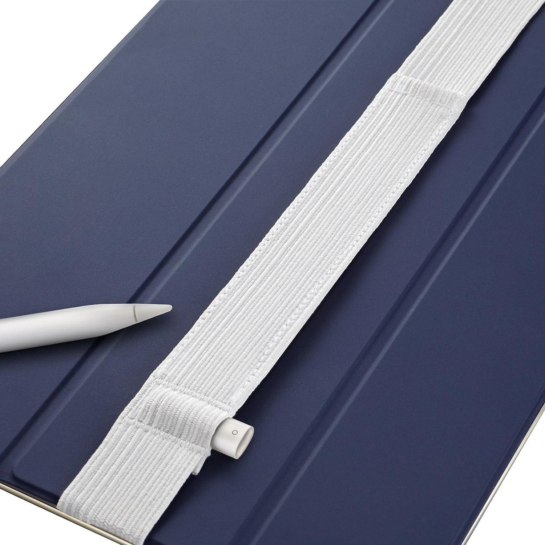 Stylus Sling-Stifthalter mit USB-Adapterfach f/ür Apple Pencil - Kompatibel mit iPad Pro 11 // 10.5 // 9.7 /& iPad 6 Black-Stitch 1st // 2nd Gen Generation