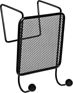 AmazonBasics Mesh Double Coat Hook, Black, 2-Pack