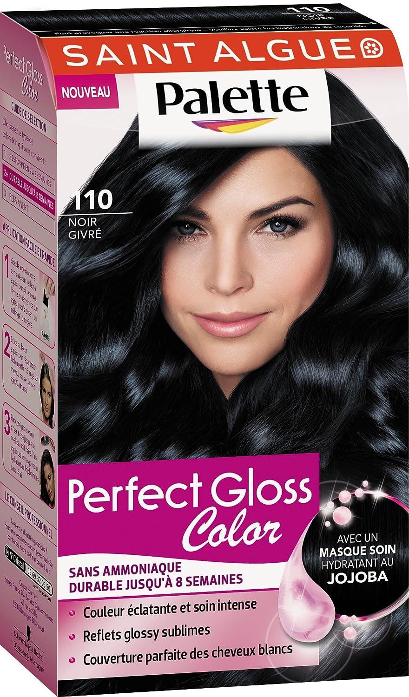 Palette couleur cheveux noir