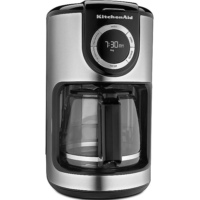 KitchenAid KXA12AS -Cafeteira Automática, Onyx Black, 2, 8 Litros
