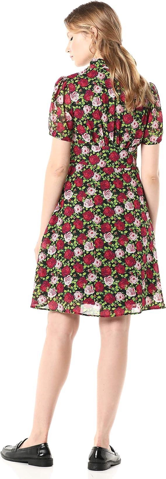 Betsey Johnson Womens Bouquet Floral Midi Dress