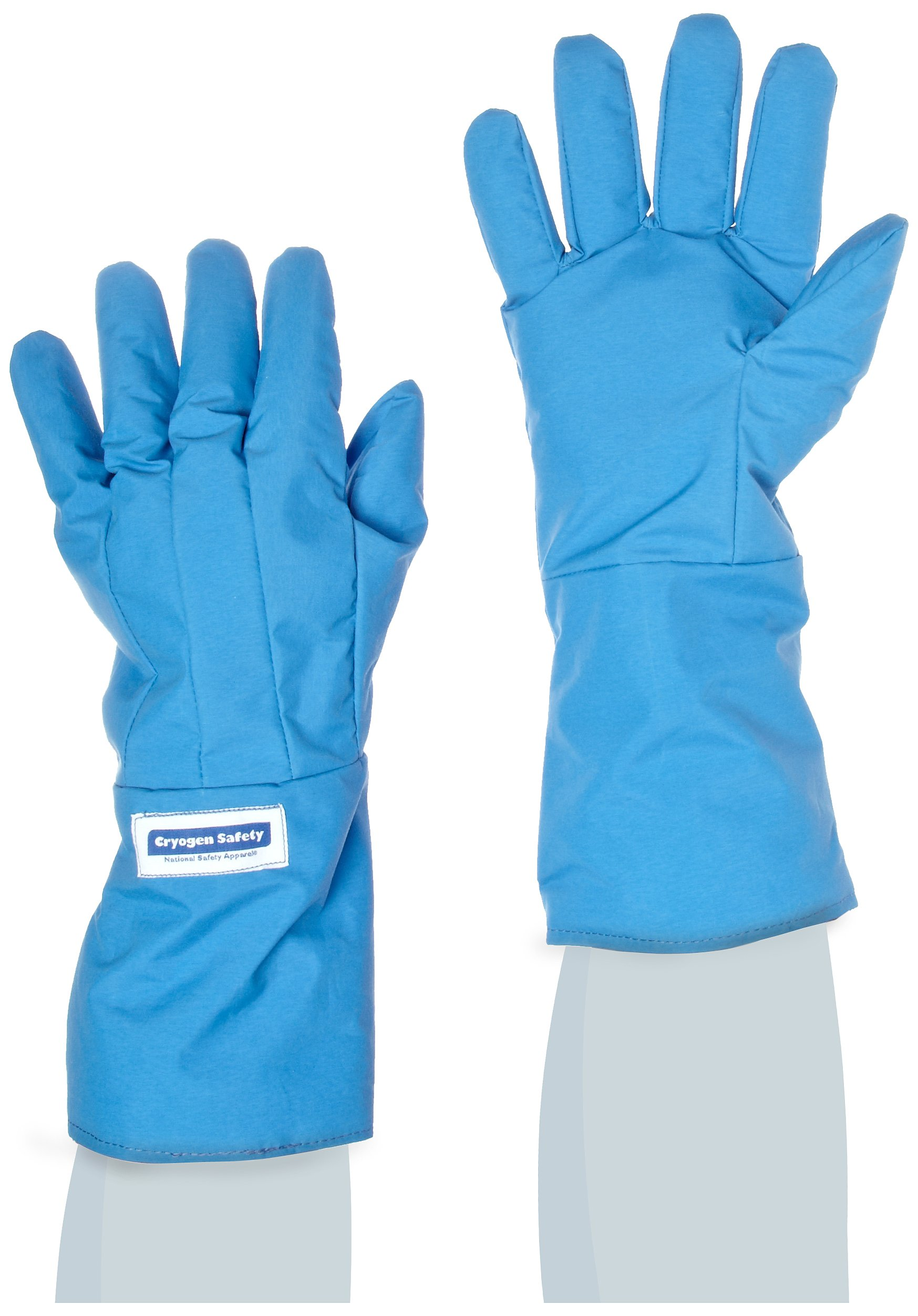 National Safety Apparel G99CRBERLGMA Nylon Taslan and PTFE Mid-Arm Standard Water Resistant Safety Glove, Cryogenic, 14'' - 15'' Length, Large, Blue by National Safety Apparel Inc (Image #1)