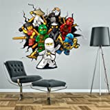 WALL STICKERS Hole in the wall LEGO NINJAGO Sticker Vinyl Decor Mural 80