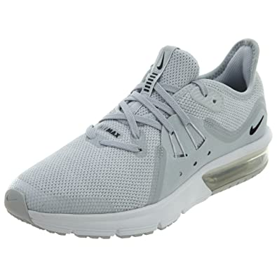 2f90584297 Amazon.com | Nike Youth Air Max Sequent 3 GS Textile Black White Trainers  5.5 US | Running