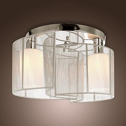 LightInTheBox 2 Light Semi Flush Mount Ceiling Light Fixture with ...