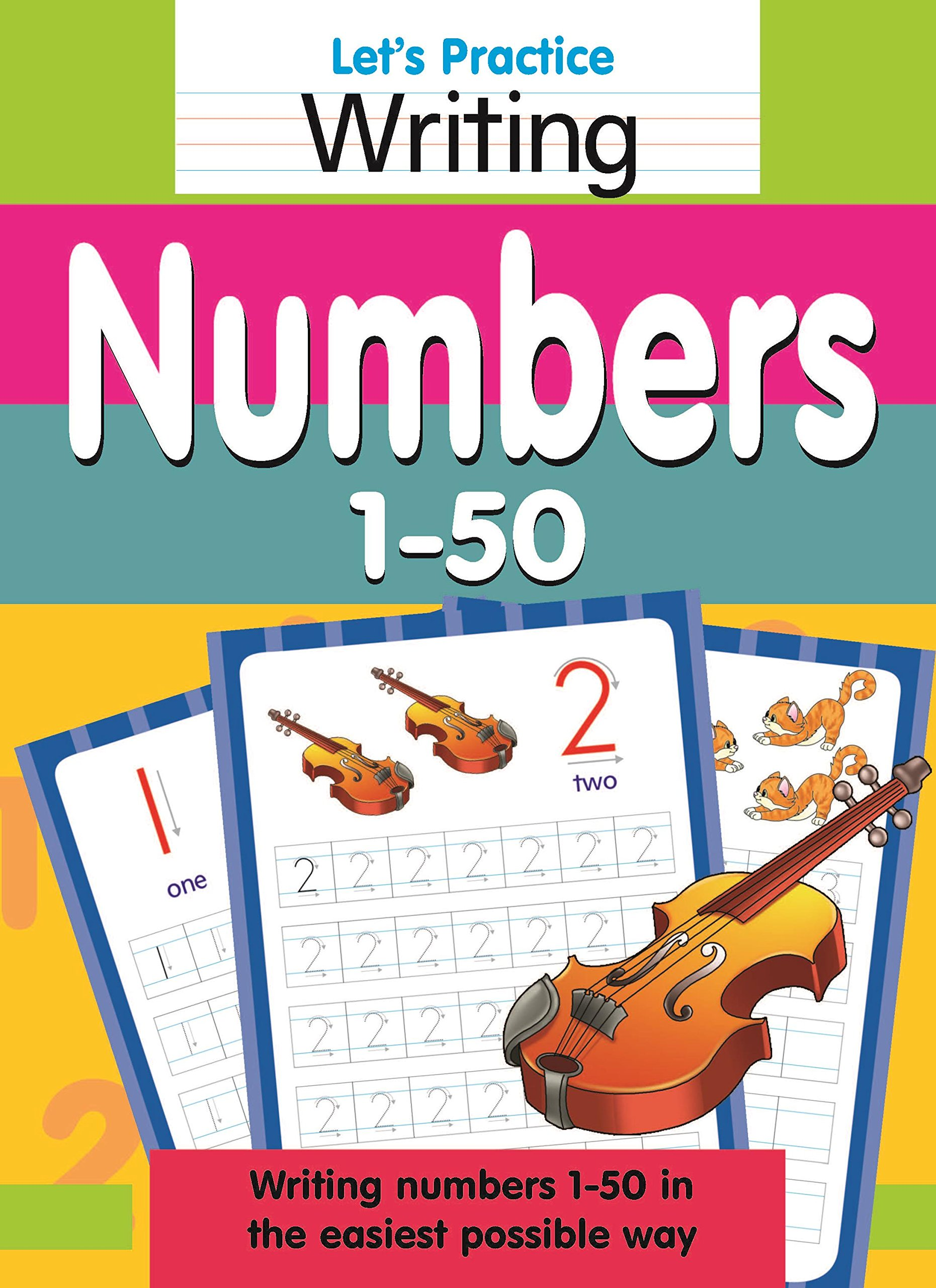 Buy Let\'s Practice Writing Numbers 1 - 50 Book Online at Low Prices ...