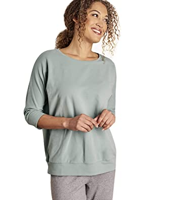 Wool Overs Sweat-Shirt Détente - Femme - Coton  Amazon.fr  Vêtements ... 8ce6dc568c4