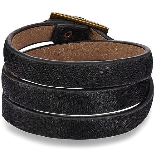 4272d1d49a2d Rafaela Donata Fashion - Pulsera de cuero - Pulsera de cuero con ...