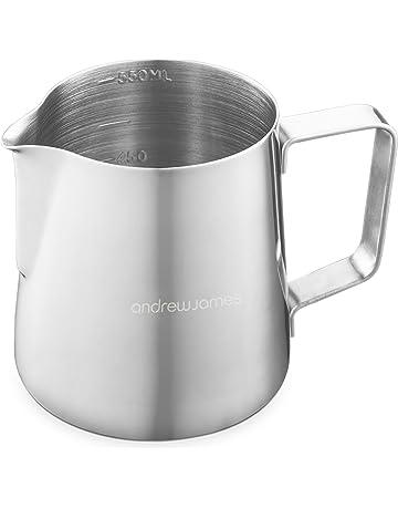 Andrew James de jarra de leche, jarra para hacer espuma de leche en acero inoxidable