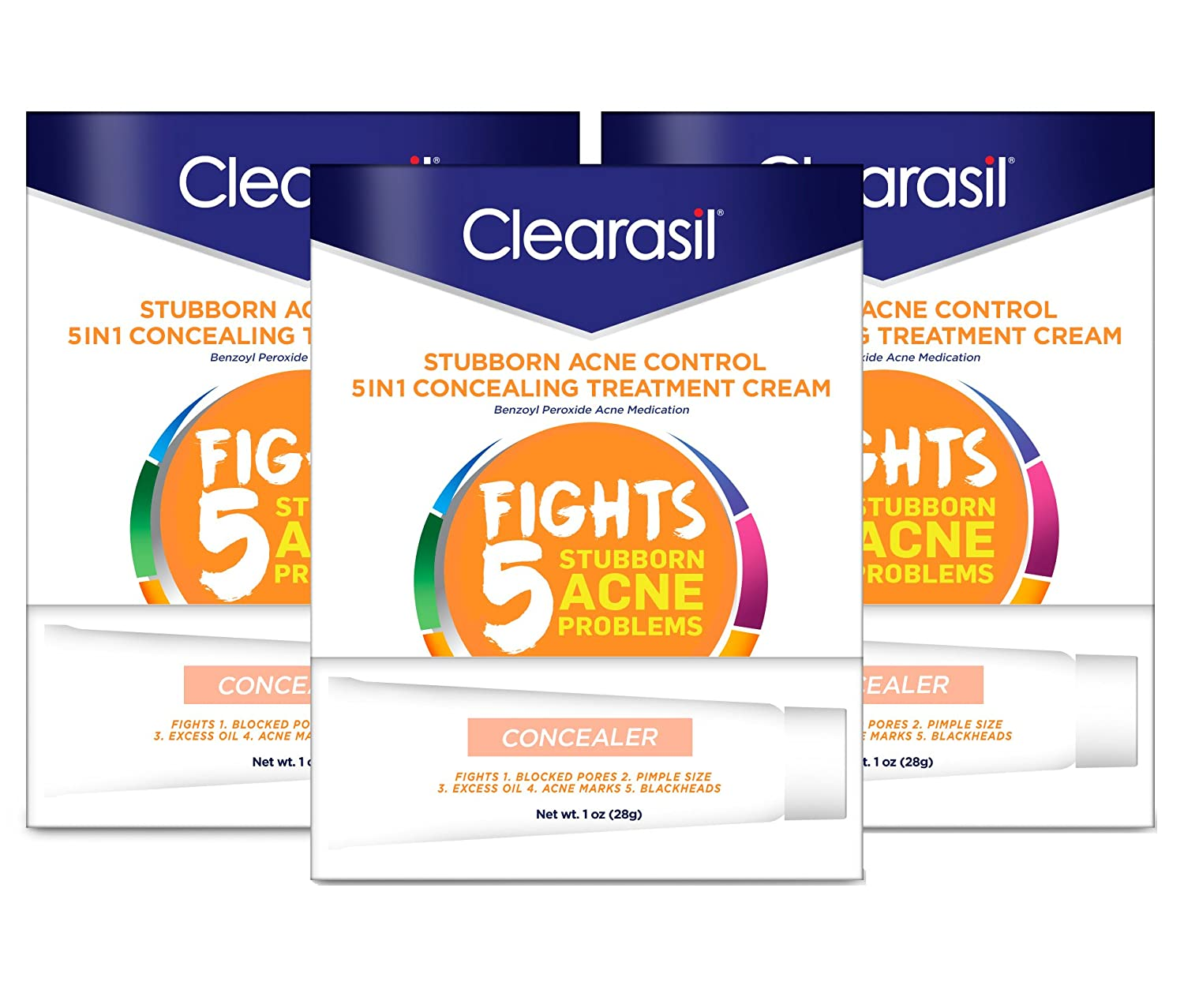 Clearasil Daily Clear Tinted Acne Treatment Cream 1oz (3 Pack)