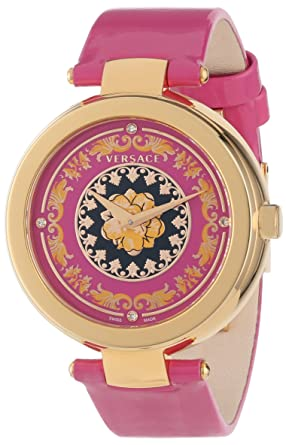 eabeb1c7581 Amazon.com  Versace Women s VK6030013 Mystique Foulard 38mm Rose ...