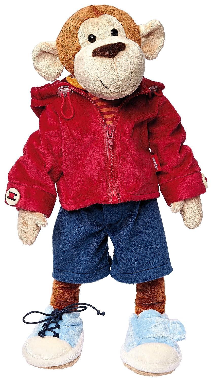 sigikid 40989 Garçon, peluche d'activités singe, habillage et déshabillage, multicolore Cartables jouet bébé enfant
