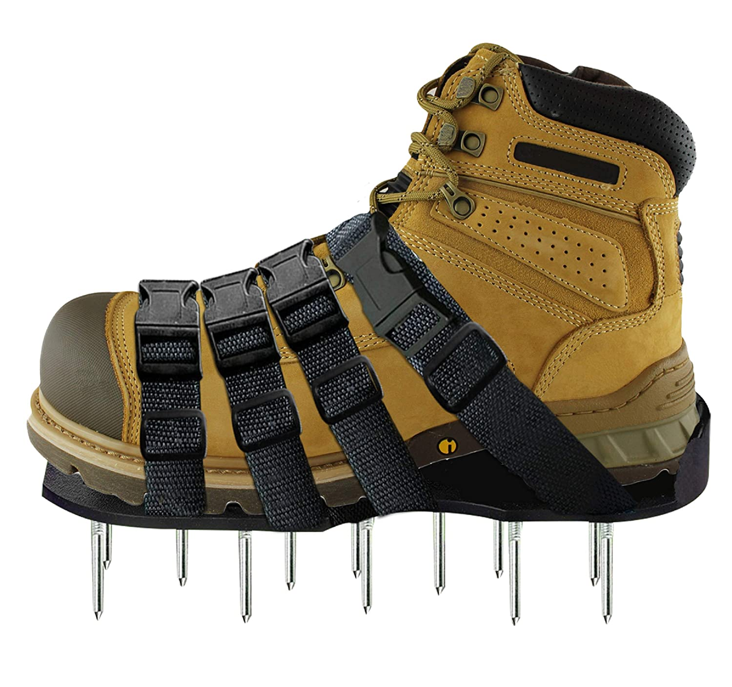 Osaava 47921 Lawn Aerator Shoes Full ASSEMBLED Spiked Aerating Lawn Sandals With Adjustable 4 straps for Aerating Your Lawn Greener and Healthier Garden or Yard Sturdy Universal Size that Fits all