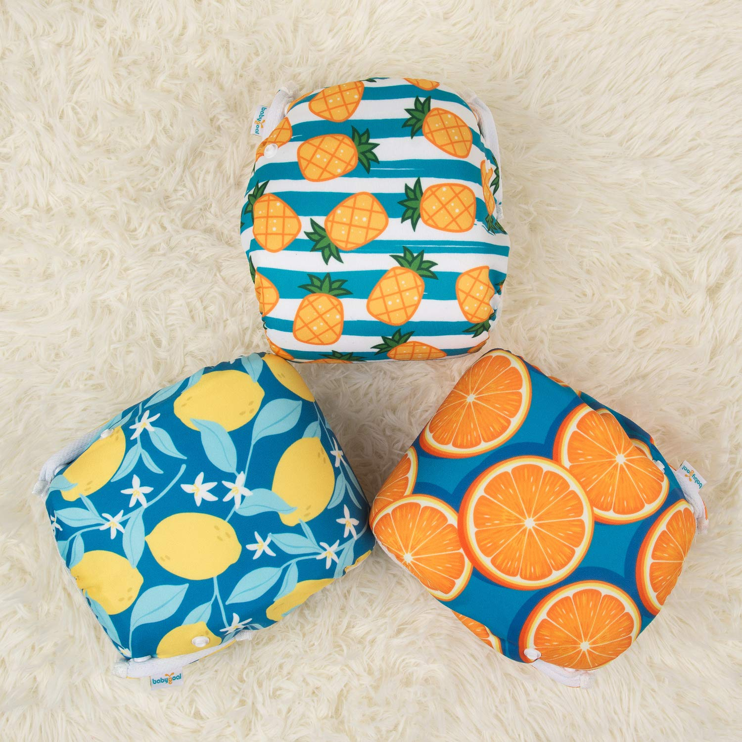 Washable and Adjustable for Babies 0-2 Years Baby Shower Gift /& Swimming Lessons 3SD11 babygoal Baby Reusable Swim Diaper