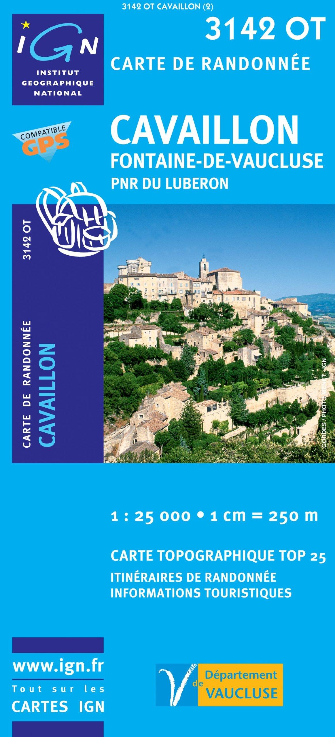 CavaillonFontainedeVauclusePNR Du Luberon GPS Ign3142ot