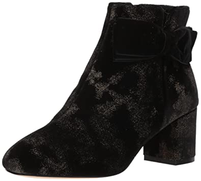 b478bb2f7a37e Kate Spade New York Women's Langley Ankle Boot, Black/Gold Spotted, ...