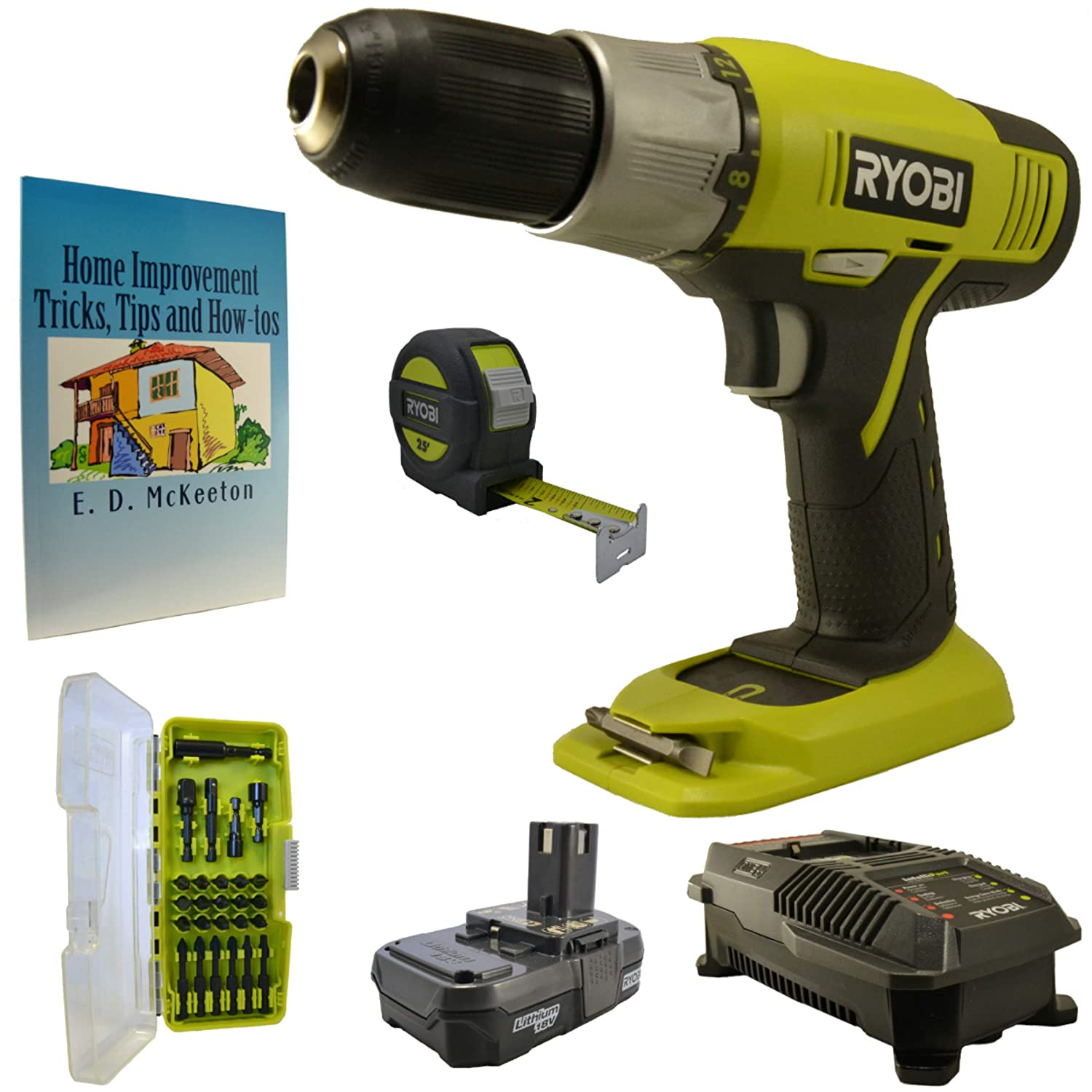 ryobi impact driver with battery and charger