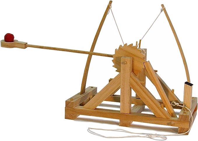 Leonardo Da Vinci Katapult Holz Bausatz Helikopter Brücke Roboter Arm Wickie
