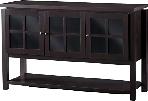 ioHOMES Julianna Modern Dining Buffet Cabinet, Walnut