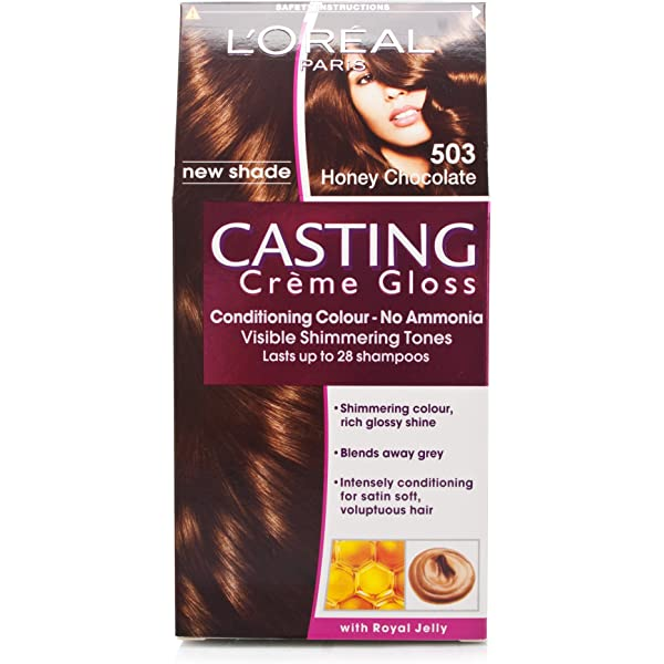 L Oréal Casting creme gloss miel Chocolate 503: Amazon.es ...