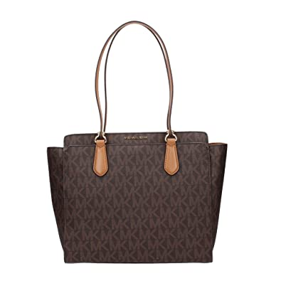 dcca1cacbbcb Amazon.com: MICHAEL Michael Kors Womens Dee Dee Monogram Shopper Tote  Handbag Brown Large: Shoes