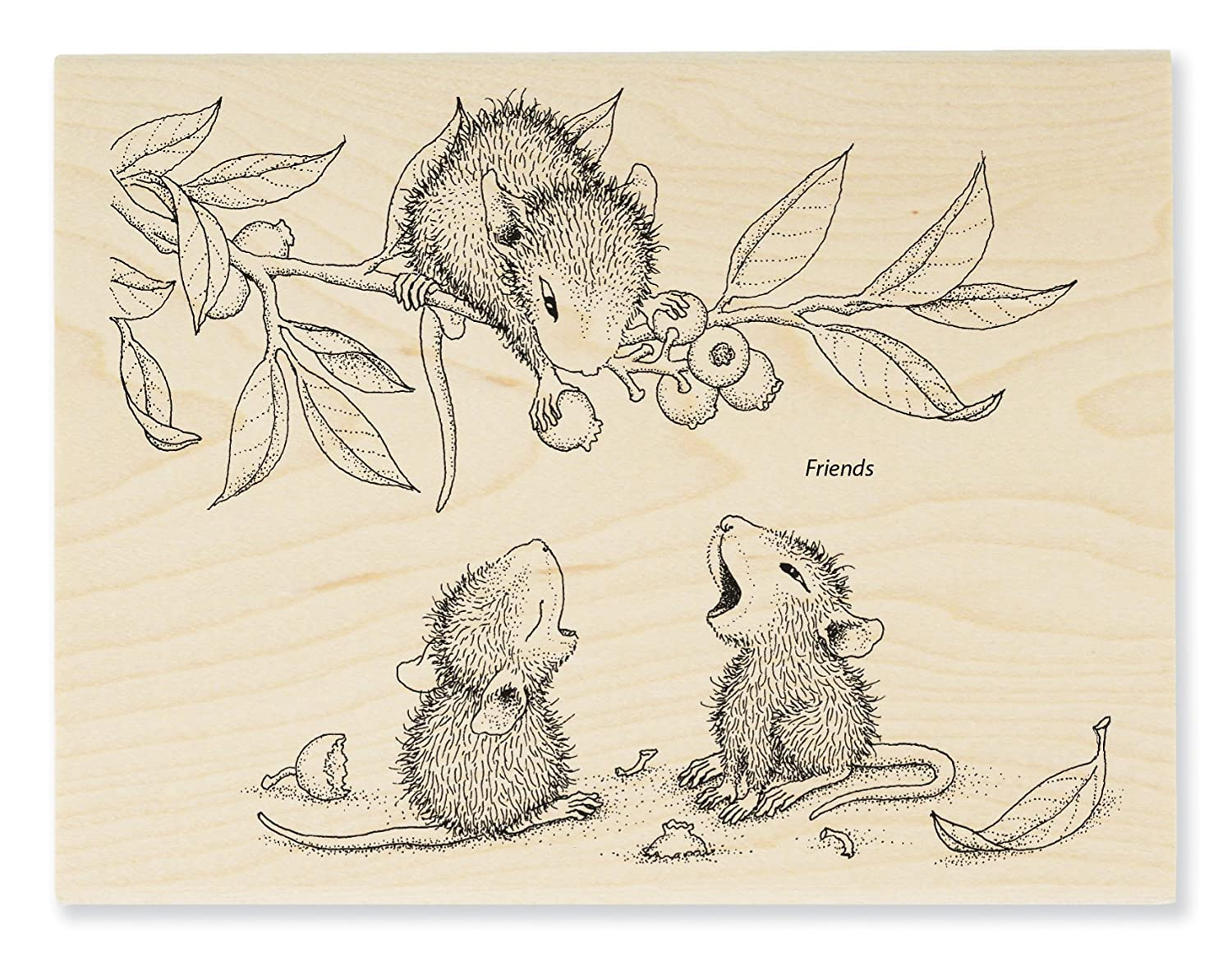 STAMPENDOUS Berry Sharing Rubber Stamp HMR23