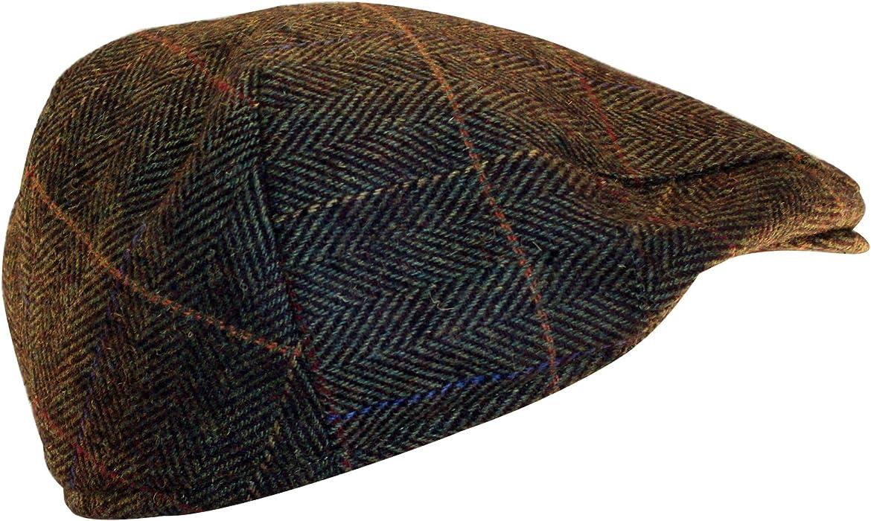 15cce3204 Shandon 100% Wool Irish Flat Cap Brown Herringbone (Medium) at ...