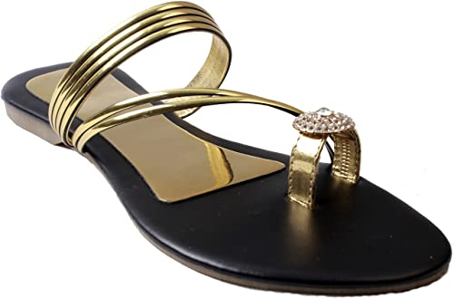 8ad580a9f89ce BFM Designer Diamond Stone Work Gold Strap Sandals for Women Or Girls  Sandals for Women or