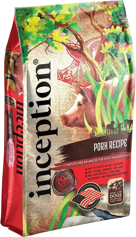 Inception Dry Dog Food Pork Recipe – Complete and Balanced Dog Food – Meat First Legume Free Dry Dog Food – 13.5 lb. Bag