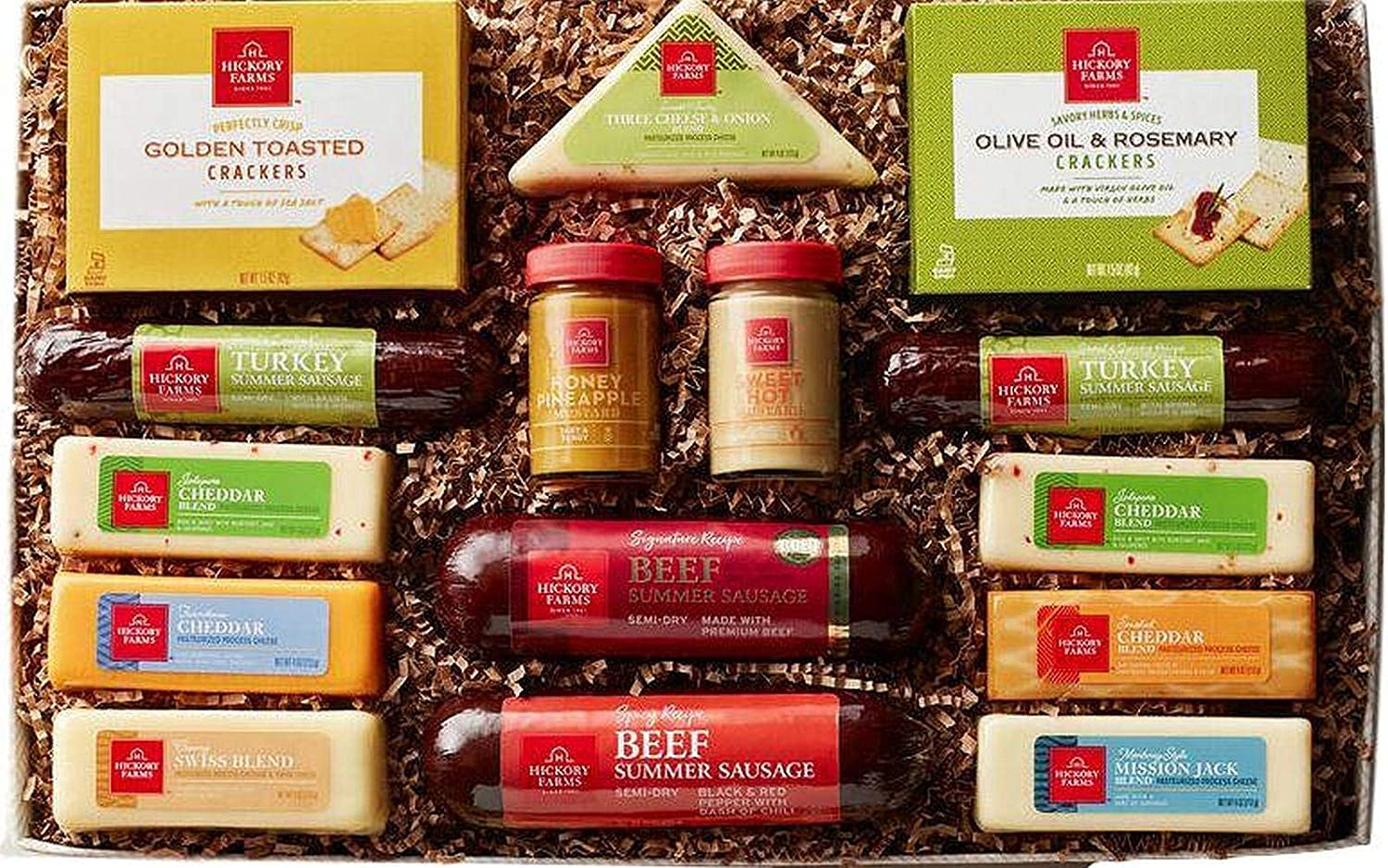 Hickory Farms Home For The Holidays Assortment Meat & Cheese Sampler