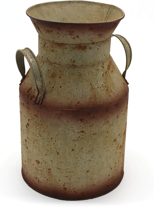 BESPORTBLE Vaso da Fiori in Metallo Zincato Barattolo di Latta per Il Latte Secchio Francese in Metallo Shabby Chic Brocca in Pentola