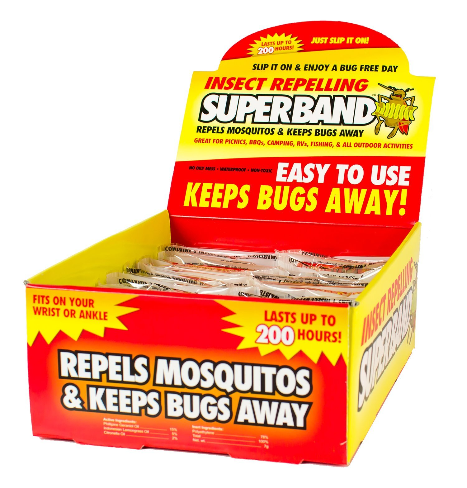 SUPERBAND 400 Pack All Natural Mosquito Repellent Bracelets - Guaranteed to Work - No Messy Lotions, Sprays, or Plastic - Fast & Easy! 30 Day Money Back Guarantee by Superband (Image #7)