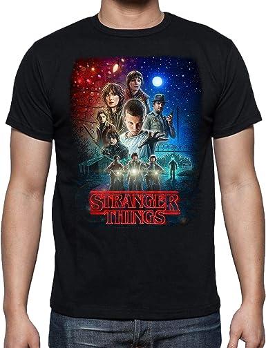 Camiseta de Hombre Stranger Things Once Series Retro 80 Eleven Will 001: Amazon.es: Ropa y accesorios