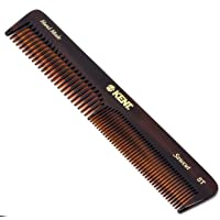 """Kent 5T """"Mary"""" (6.5"""" / 175mm) Handmade Saw-Cut Coarse/Fine Toothed Dressing Table Comb for Men/Women - For Styling…"""